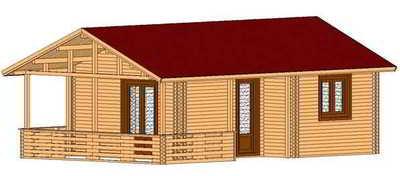 chalet en kit 40m2 chaletabri. Black Bedroom Furniture Sets. Home Design Ideas