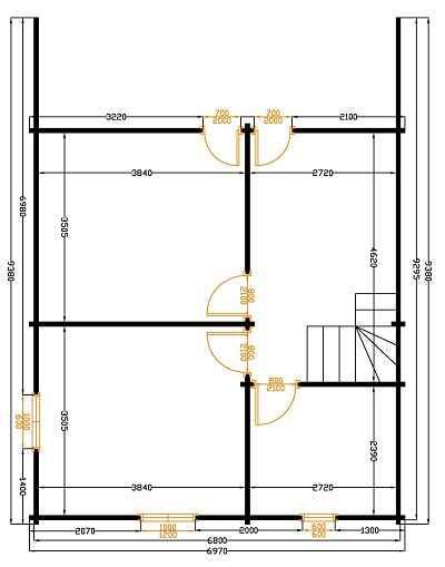 plan etage chalet elegance