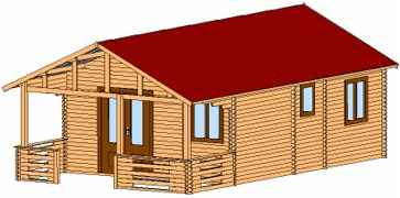chalet bois kit en construction