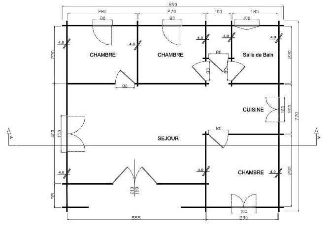 chalet bois montana en kit chalets en kits. Black Bedroom Furniture Sets. Home Design Ideas