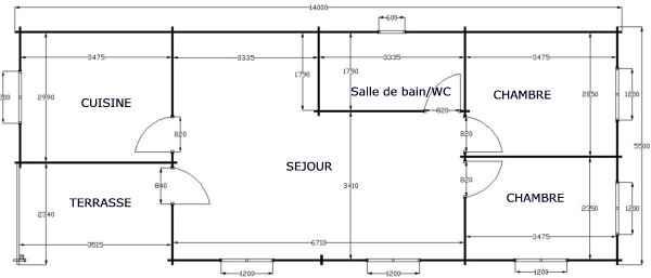 plan du chalet bois kit