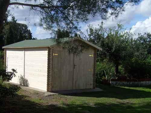 garage en bois PLUS