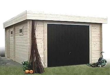 Garage bois garage en bois kit pr t monter for Garage bois kit