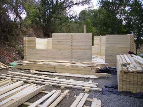 montage chalet bois en kit athopol environ 59 50m. Black Bedroom Furniture Sets. Home Design Ideas
