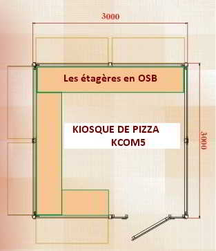 kiosque de pizza 3000x3000 5comptoirs kiosques commerciaux. Black Bedroom Furniture Sets. Home Design Ideas