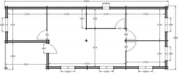 plan du maison bois kit