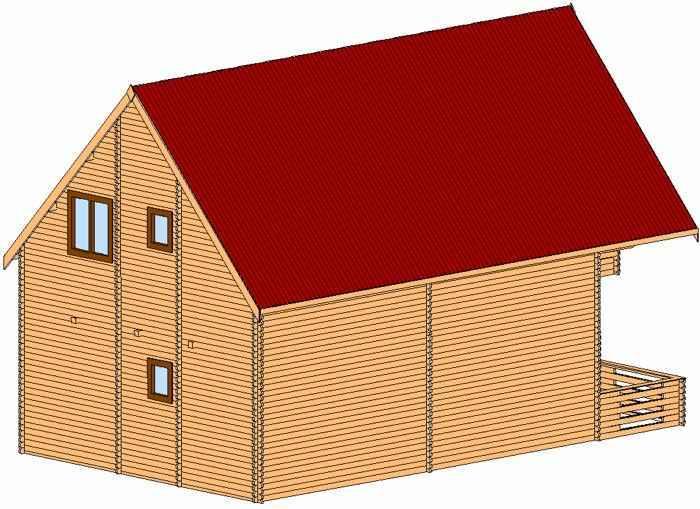 maison bois kit de vacances POMORIE sur deux niveaux