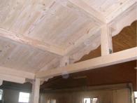 structure terrasse auvant chalet bois kit