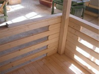structure terrasse chalet bois kit
