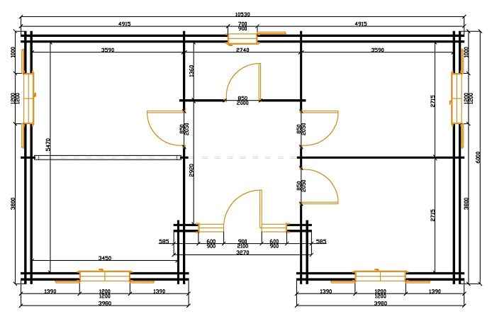 plan au sol maison bois