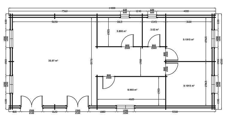 Chalet bois kit plan perso 90m2 au sol instalee depertement 34 en france avec les plans et photos for Plan de maison de 90m2