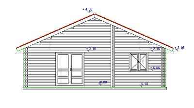 plan facade de la maison