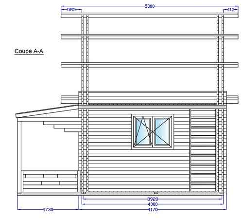 Chalet plan coupe