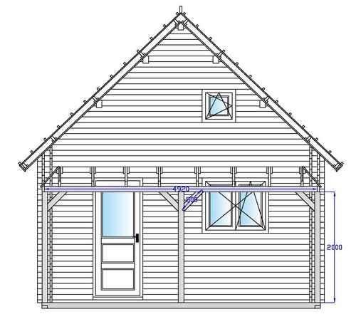 Chalet plan facade