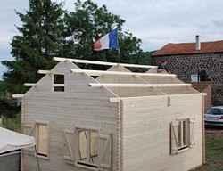 Installation chalets, maison en bois et abris en photos
