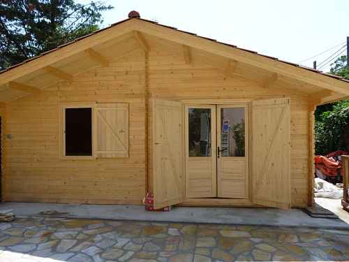 Chalet habitable de 23m2 instalee depertement 69 rhone en for Chalet prix construction